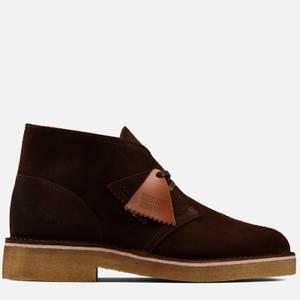 Clarks Originals Men's 221 Suede Desert Boots - Dark Tan