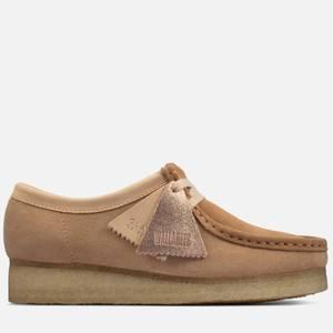 Clarks Originals Women's Wallabee Suede Shoes - Tan