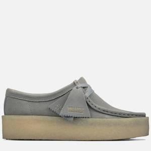 Clarks Originals Women's Wallabee Cup Suede Shoes - Grey