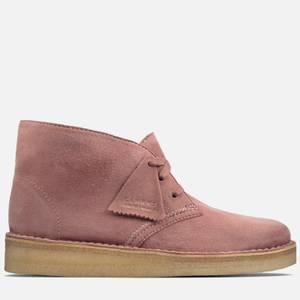 Clarks Originals Women's Desert Coal Nubuck Boots - Pink
