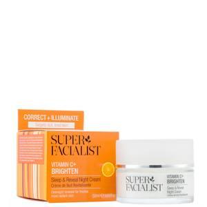 Super Facialist Vitamin C+ Brighten Sleep and Reveal Night Cream - 50ml