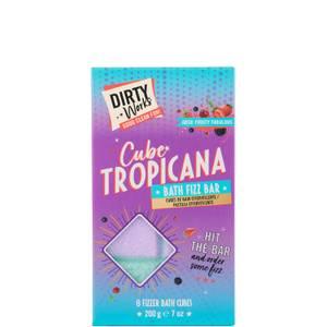 Dirty Works Cube Tropicana Bath Fizz Bar - 200g