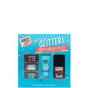 Dirty Works All That Glitters Hair & Skin Glitter Set