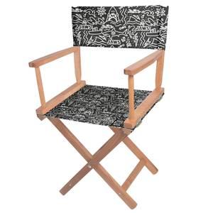 Decorsome Jaws Black Doodle Directors Chair