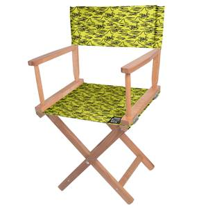 Decorsome Jaws Yellow Doodle Directors Chair