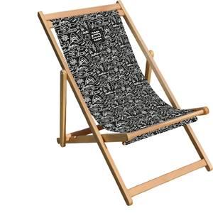 Decorsome Jaws Black Doodle Deck Chair