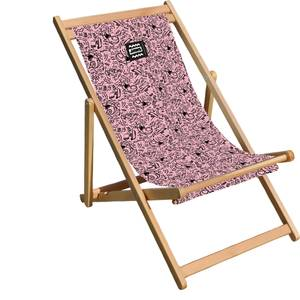 Decorsome Jaws Pink Doodle Deck Chair
