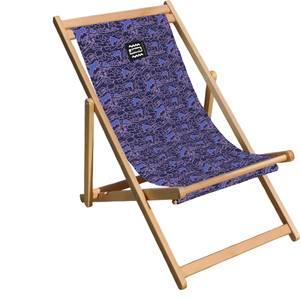 Decorsome Jaws Purple Doodle Deck Chair