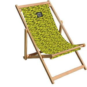 Decorsome Jaws Yellow Doodle Deck Chair