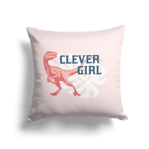 Jurassic World Clever Girl Square Cushion