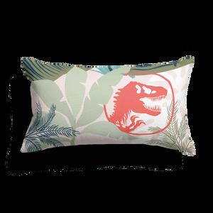 Jurassic World Tropical Logo Pattern Rectangular Cushion
