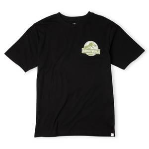 Jurassic World Logo Tropical Oversized Heavyweight T-Shirt - Black