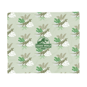 Jurassic World Tropical Leaves Fleece Blanket