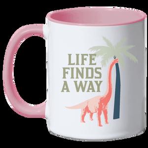 Jurassic World Life Finds A Way Mug - Pink