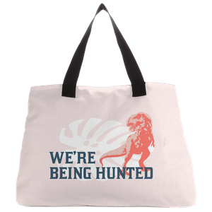 Jurassic World Being Hunted Tote Bag