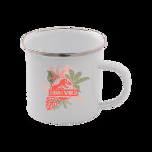 Jurassic World Tropical Enamel Mug ? White