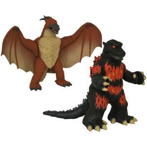 Diamond Select Godzilla Vinimate 2-Pack - Burning Godzilla & Rodan