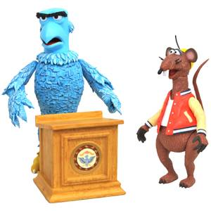 Diamond Select Muppets Deluxe Action Figure 2-Pack - Sam The Eagle & Rizzo The Rat