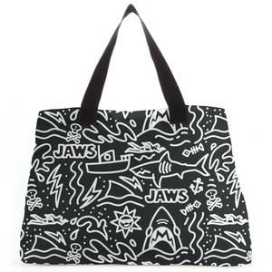 Jaws Black Doodle Tote Bag