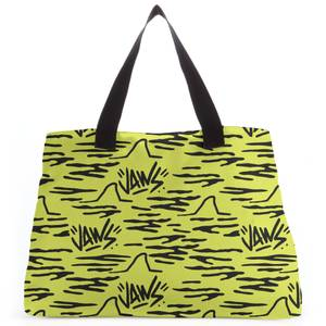 Jaws Yellow Doodle Tote Bag
