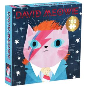 David Meowie Music Cats Jigsaw Puzzle (100 Pieces)