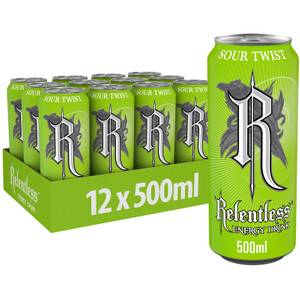 Relentless Sour Twist Energy Drink 12 x 500ml