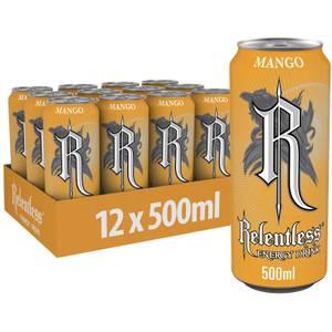 Relentless Mango Energy Drink 12 x 500ml