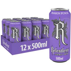 Relentless Passion Punch Energy Drink 12x500ml