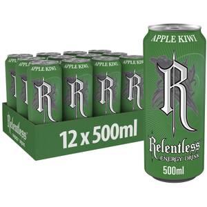 Relentless Apple & Kiwi Energy Drink 12 x 500ml