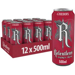 Relentless Cherry Energy Drink 12 x 500ml