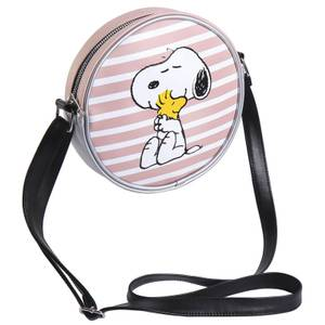 Snoopy and Woodstock Faux-Leather Shoulder Strap Handbag