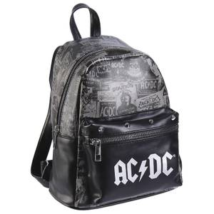 AC/DC Collage Faux-Leather Backpack