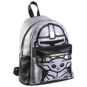 The Mandalorian Grey Faux-Leather Backpack