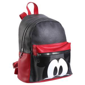 Disney Mickey Mouse Black And Red Faux-Leather Backpack