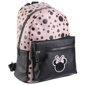 Disney Minnie Mouse Black And Pink Faux-Leather Backpack
