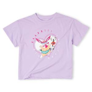 Nickelodeon Real Monsters Women's Cropped T-Shirt - Lilac