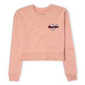 Nickelodeon Angelica Heart Women's Cropped Sweatshirt - Dusty Pink