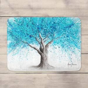 Blue Blossom Tree Bath Mat