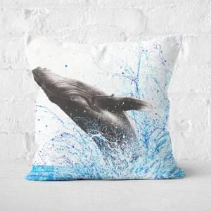 Whale Waves Square Cushion