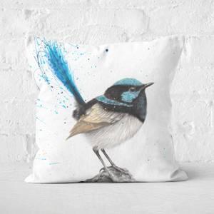 Mountain Blue Wren Square Cushion