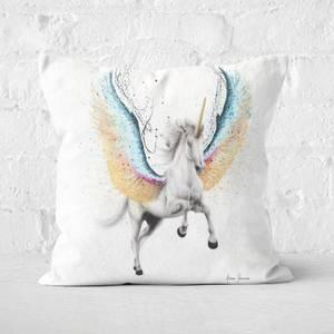Whimsical Unicorn Square Cushion