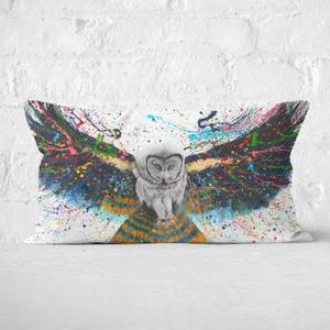 Hypnotic Twilight Owl Rectangular Cushion