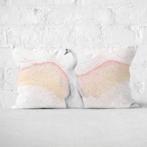 White Swan Rectangular Cushion