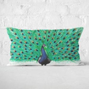 Proud Peacock Rectangular Cushion