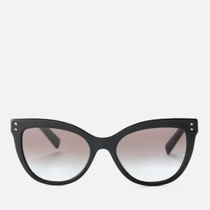 Valentino Women's Allure Acetate Stud Sunglasses - Black