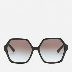 Valentino Women's Allure Acetate Hexagonal Sunglasses - Black