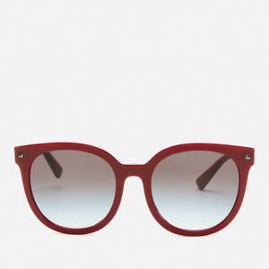 Valentino Women's Legacy Acetate Sunglasses - Burgundy