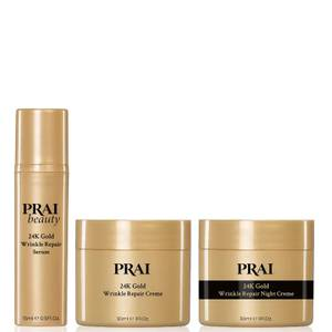 PRAI 24K Golden Glow Collection for Day and Night (Worth £80.00)