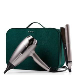 ghd Platinum+ & Helios Limited Edition - Hair Straightener & Hair Dryer in Warm Pewter