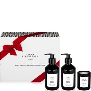Urban Apothecary Velvet Peony Body + Home Collection - 300ml Wash, Lotion and 70g Candle
